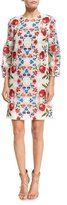 Burberry Floral-Embroidered Lace Shift Dress