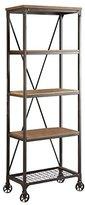 "Homelegance 5099-16 Wood and Metal Bookshelf, 26"", Brown/Black"