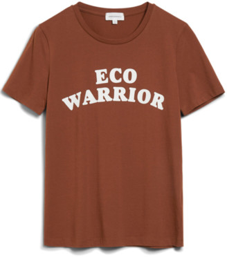 Armedangels Organic Cotton Eco Warrior T-Shirt in Cacao Brown - S