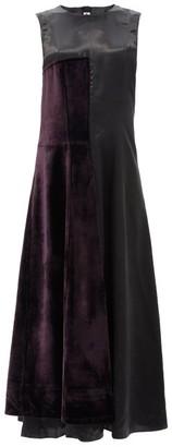 Marni Velvet-panel Twill Dress - Black