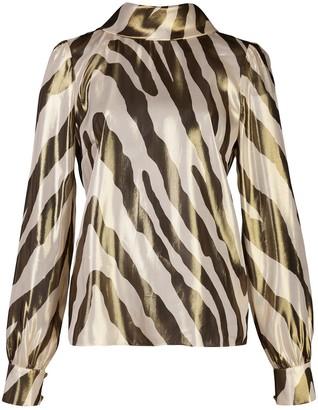 HANEY Billie zebra-print blouse