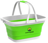 Collapsible Basket- Multiuse Handbasket w/ Handles by Wakeman Outdoors