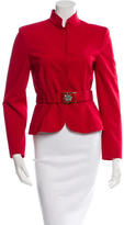 Alberta Ferretti Belted Wool Jacket