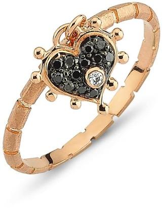 Black Diamond Selda Jewellery Heart Ring