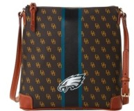 Dooney & Bourke Philadelphia Eagles Stadium Signature Zip Crossbody