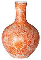 One Kings Lane Globular Vase - Orange