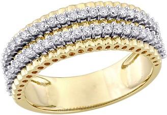 Affinity Diamond Jewelry Affinity 1/2 cttw Diamond Eternity Band, 14K Yellow Gold