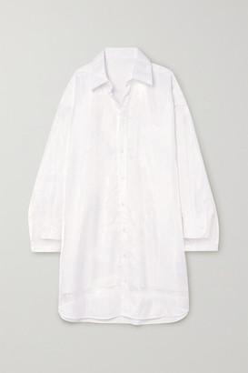 Maison Margiela Layered Organza And Cotton-poplin Shirt Dress - White