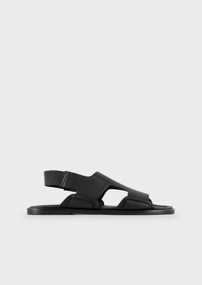 Giorgio Armani Full-Grain Leather Sandals