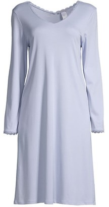 Hanro Bea Lace-Trimmed Sleep Gown
