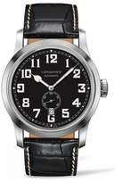 Longines Men's Heritage Automatic Military Leather Strap Watch, 44Mm