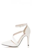 Quiz White Strap Pointed Toe Courts
