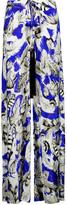 Roberto Cavalli Printed silk-satin wide-leg pants