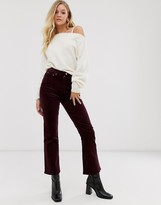 And other stories & straight leg cord pants in burgundy
