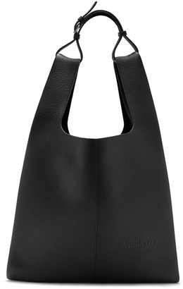 Mulberry Oversized Portobello Tote Black Heavy Grain