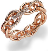 INC International Concepts Rose Pavé Link Stretch Bracelet