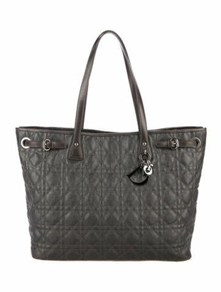 Christian Dior Cannage Large Tote Grey