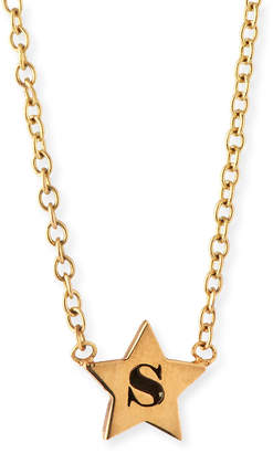 Chicco Zoe 14k Personalized Initial Star Pendant Necklace
