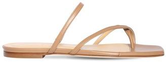 AEYDĒ 10mm Marina Leather Flat Sandals
