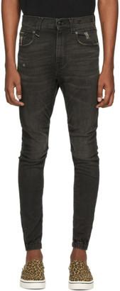 R 13 Black Cooper Jeans