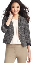 LOFT Tall Pebble Print Collarless Jacket in Drapey Crepe