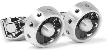 Deakin & Francis Jet Turbine Engine Brushed-Aluminium Cufflinks