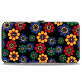 Buckle Down Buckle-Down Womens Hinge Wallet - Psychedelic Daisies Black/Multi Color
