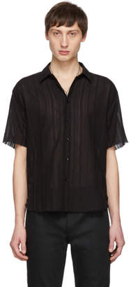 Saint Laurent Black Open Seam Shirt