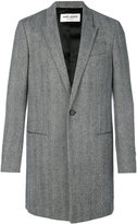Saint Laurent Chesterfield peak lapel coat - men - Cotton/Cupro/Wool - 48