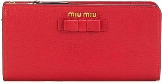 Miu Miu bow zip around wallet