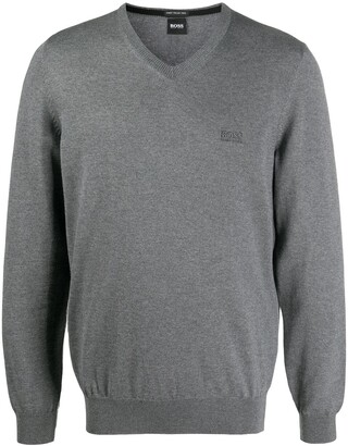 HUGO BOSS V-neck virgin wool jumper