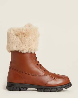 Lauren Ralph Lauren Deep Saddle & Cream Dabney Faux Fur-Lined Snow Boots