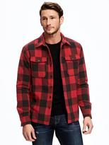 Old Navy Buffalo-Plaid Shirt Jacket for Men