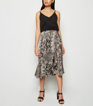 New Look AX Paris Light Snake Print 2 in 1 Dress