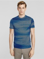 Calvin Klein Collection Sky Grid Print Mercerized Cotton Crew Neck