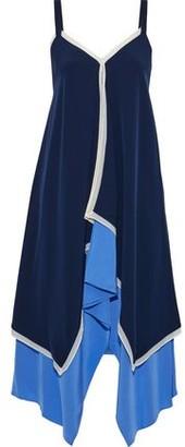 Diane von Furstenberg Wren Asymmetric Layered Silk Crepe De Chine Dress