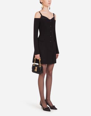 Dolce & Gabbana Short Dress In Double Crepe