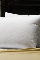 2-Pack 230 Thread Count Cotton Quilted Gel Pillow - White