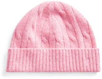 Ralph Lauren Cable-Knit Wool-Cashmere Hat