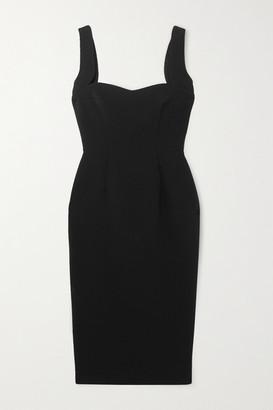 Victoria Beckham Paneled Crepe Midi Dress - Black