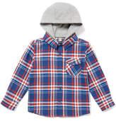 Tu clothing Blue Check Hooded Shirt