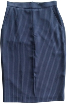 Max Mara Blue Wool Skirt for Women