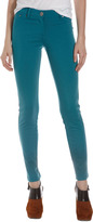 Romeo & Juliet Couture Five-Pocket Ponte Stretch Pants, Teal