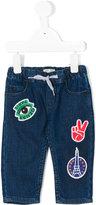 Kenzo appliqué jeans