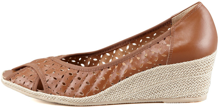 Sesto Meucci Maddy Perforated Espadrille Wedge, Natural