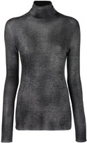 Avant Toi roll neck top - women - Silk/Polyester/Cashmere - XS