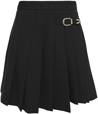 Maje Pleated Grain De Poudre Mini Skirt