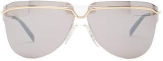 Givenchy Aviator Metal Sunglasses - Silver