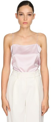 Alexandre Vauthier Stretch Satin Camisole Top