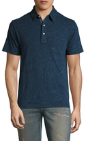Faherty Heather Buttoned Polo